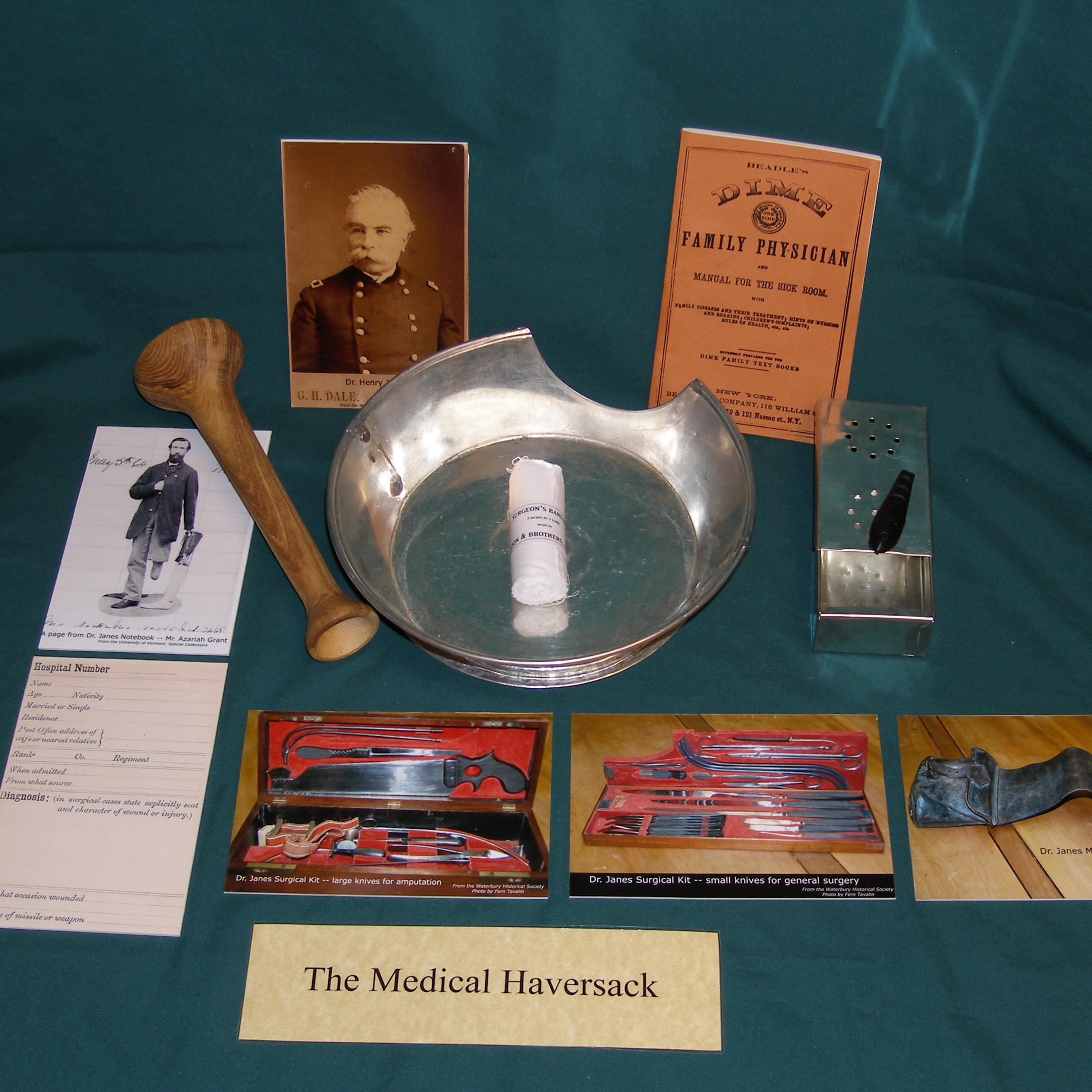 Items on a table from Civil War kit