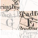 Detail of an historic Vermont map