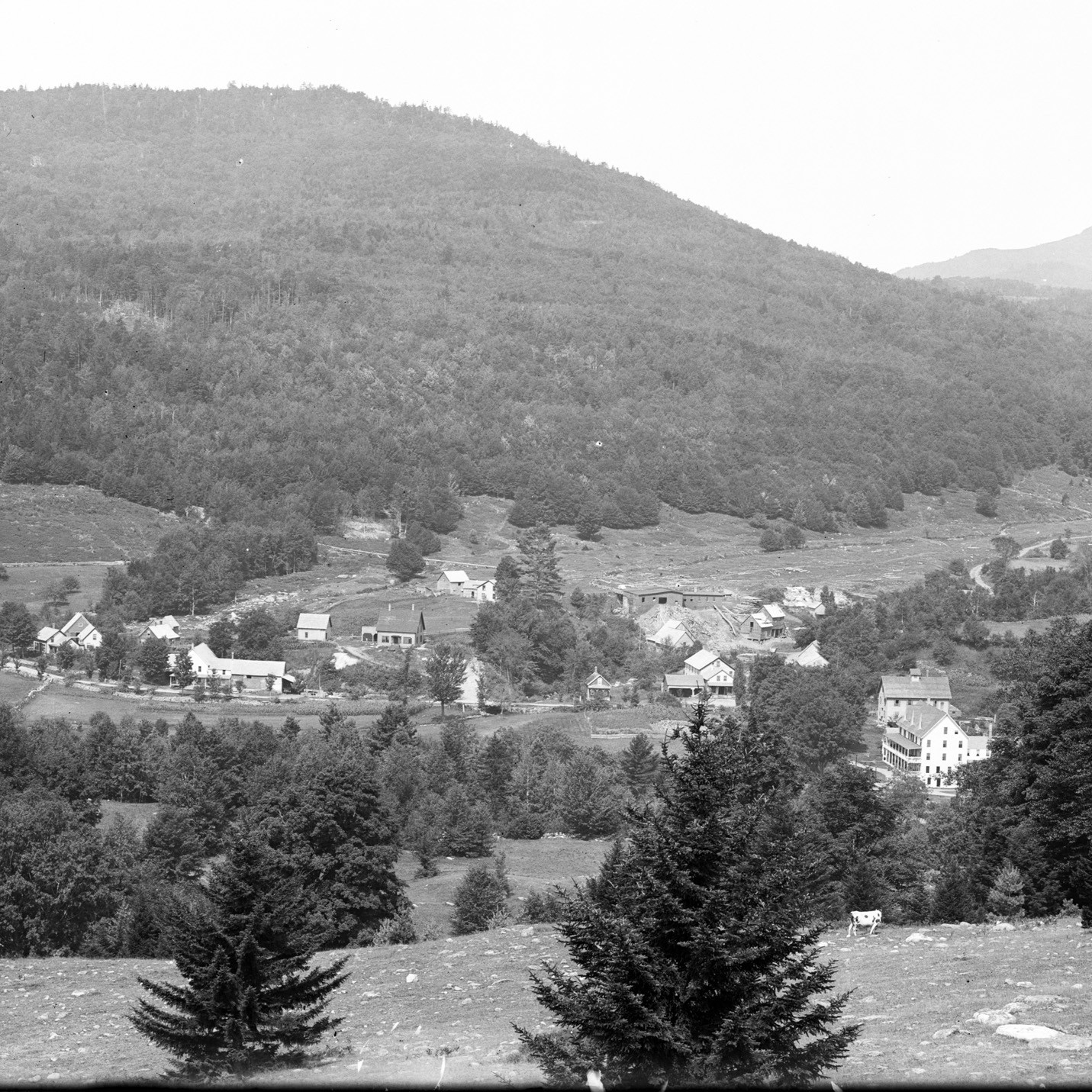 Photograph of village of Tyson, Vermont, by Walter Calflin.