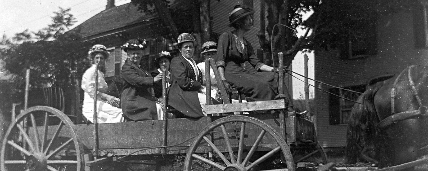 Photo of women in a wagon, George Swallow Photographer