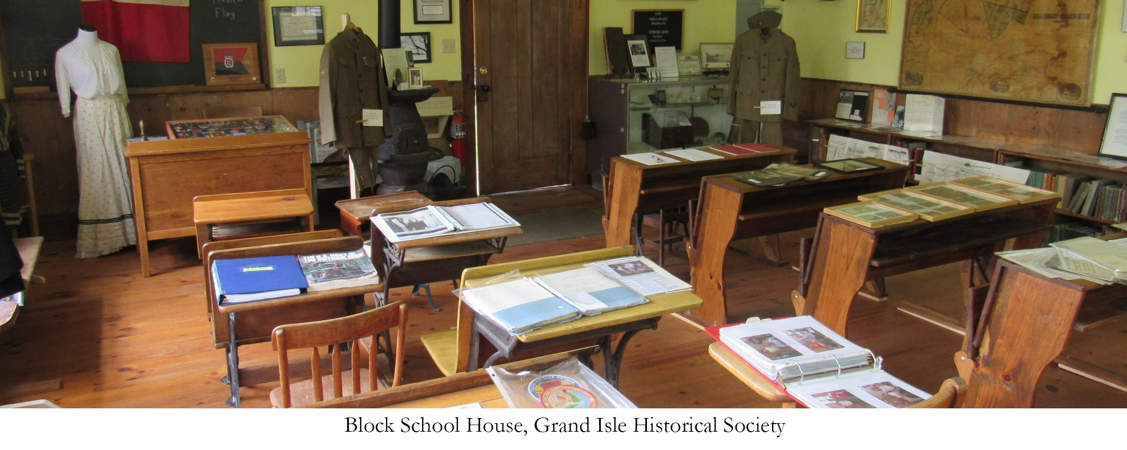 Block Schoolhouse, Grand Isle Historical Society