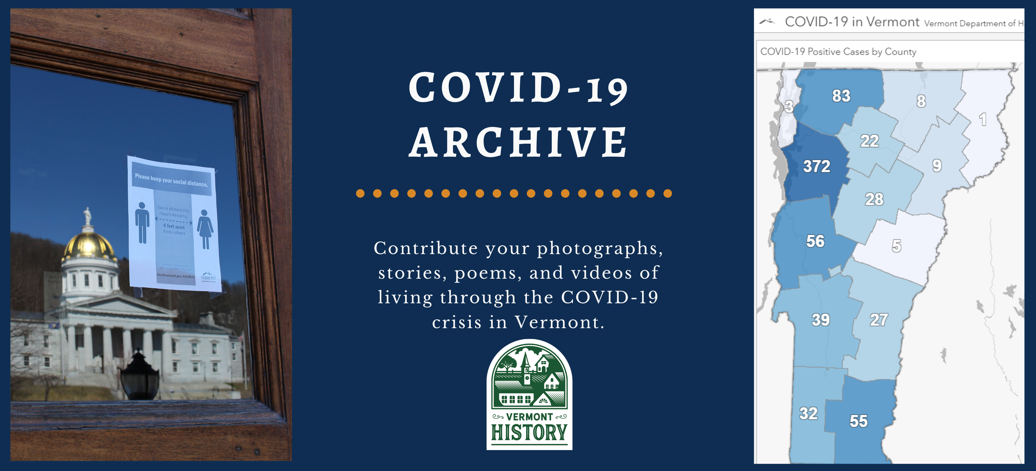 COVID-19 Archive: Contribute your photographs, stories, poems, and videos of living through the COVID-19 crisis in Vermont