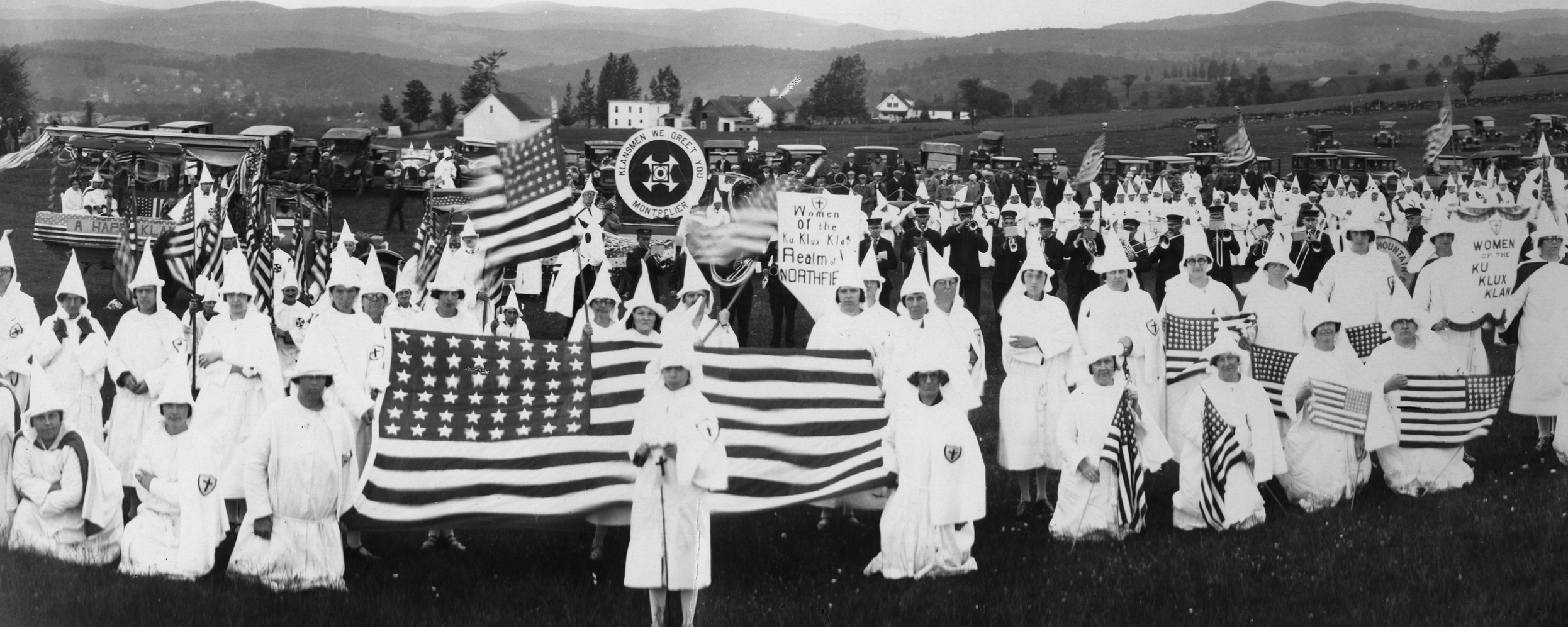 A KKK rally in Montpelier, 1927