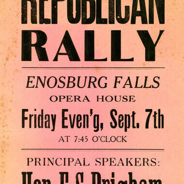 Portion of a Republican rally political broadside.