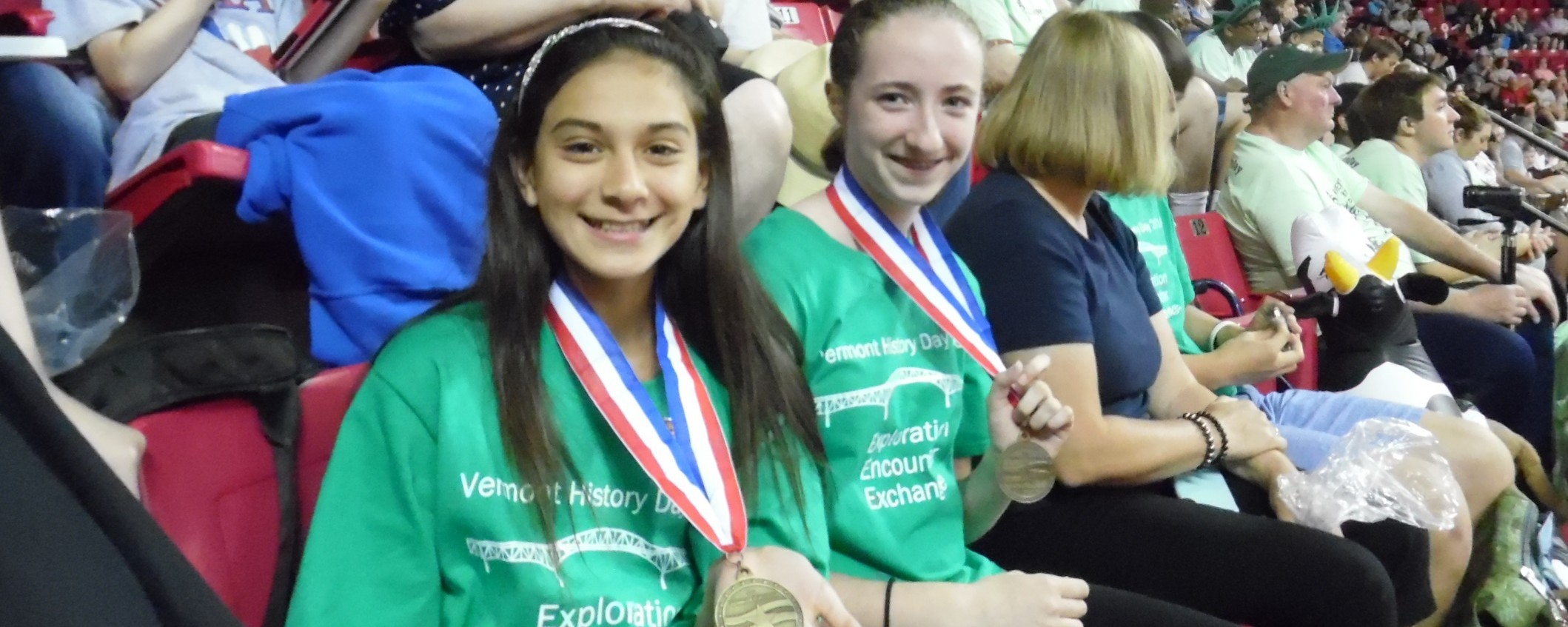 Two students who won the Labory History Prize at National History Day