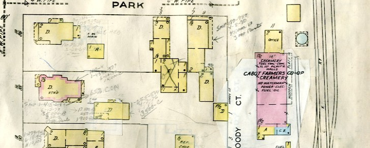 colored map of buildings