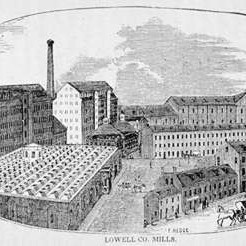 old illustration of Lowell Co. Mills