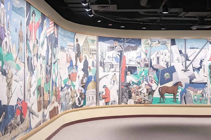 Mural on exhibit in the museum