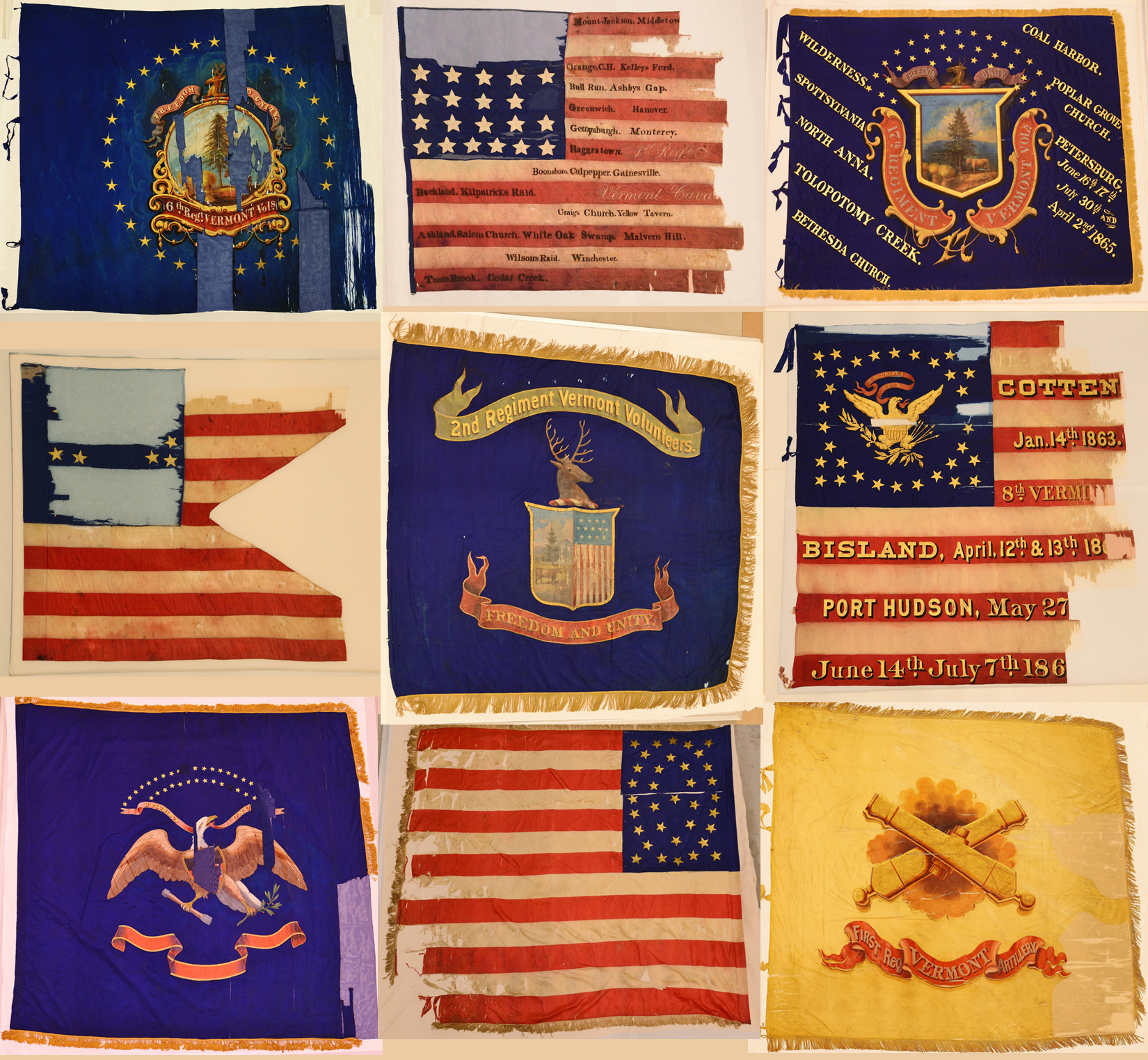 Vermont Civil War Flags