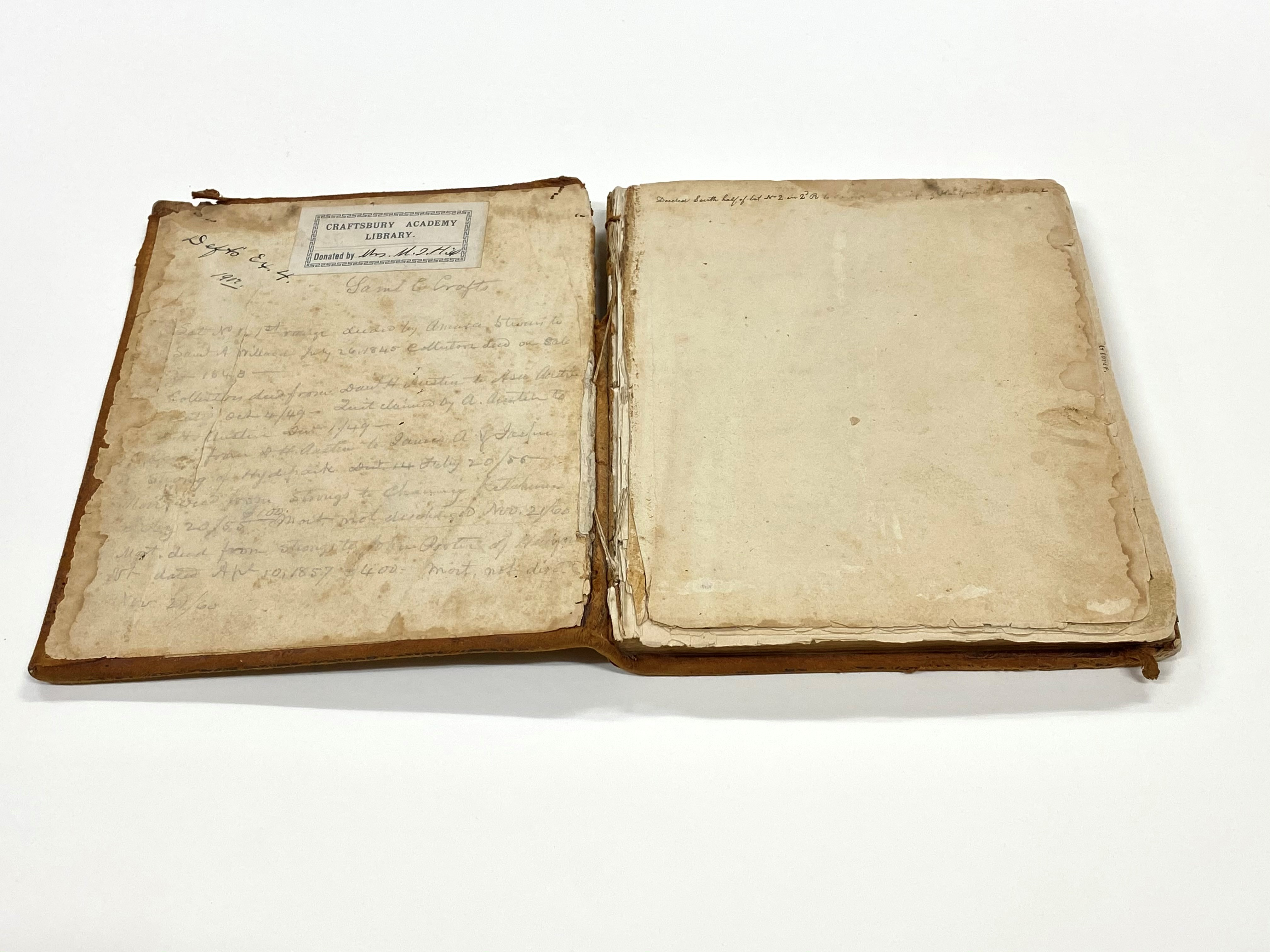 Samuel Crafts' Book of Plans of Vermont Towns