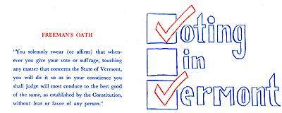 Freeman's Oath from 1971 borchure