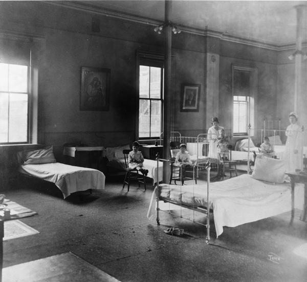 Photograph of Influenza infirmary in Burlington, Vermont