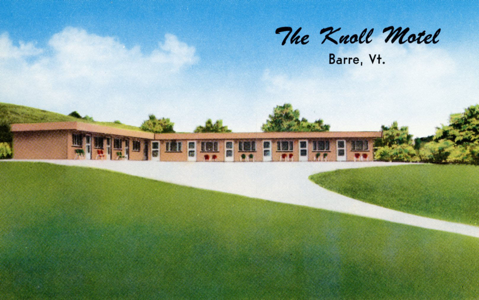 Postcard of the Knoll Motel